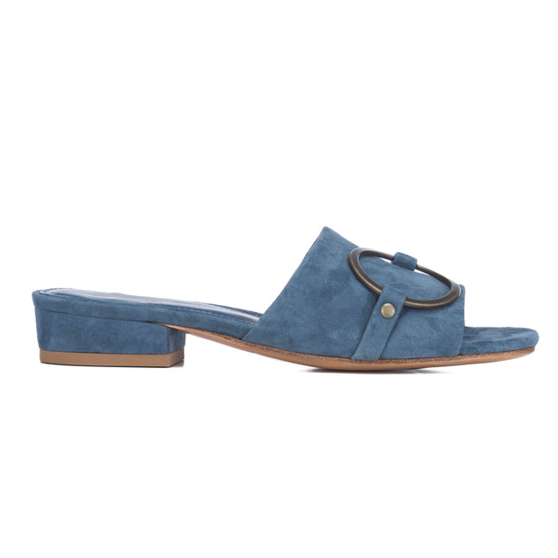 Mara & Mine Mary Mule - Blue/Antique Gold
