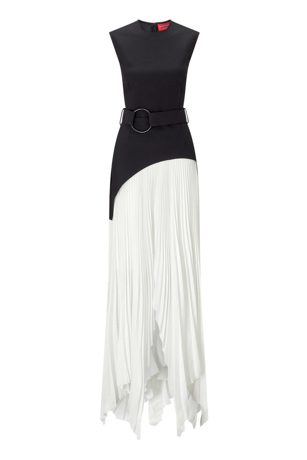 Solace London Anya Midaxi Dress - Black/White