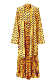 Solace London Elin Dress - Yellow/Black