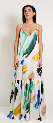 Elke Painted Brush Stroke Dress