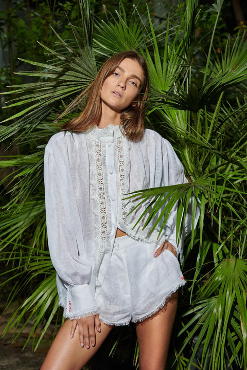 Atelier Handmade Embroidered Linen Shirt