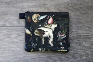 the garden of earthly delights - lined twill coin purse -hieronymus bosch, 1480 - 1505