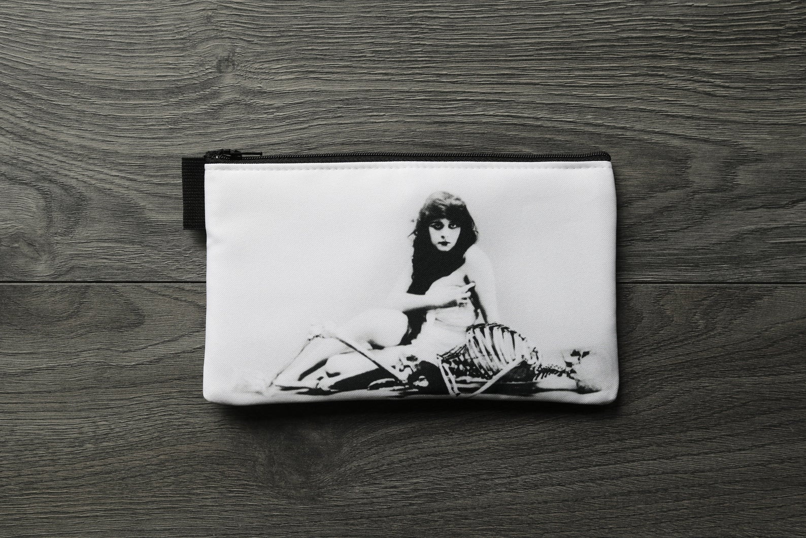 Theda Bara - lined twill pencil case - double sided print - The Vamp
