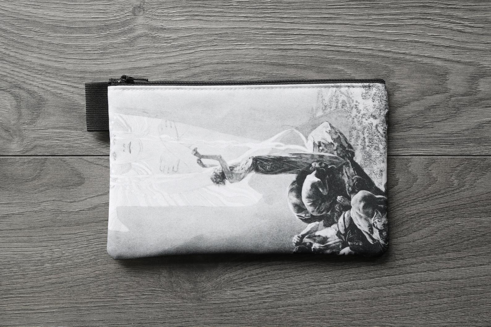 hallowed be thy name - lined twill pencil case - double sided print - le pater // the Lord's Prayer alphonse mucha, 1899