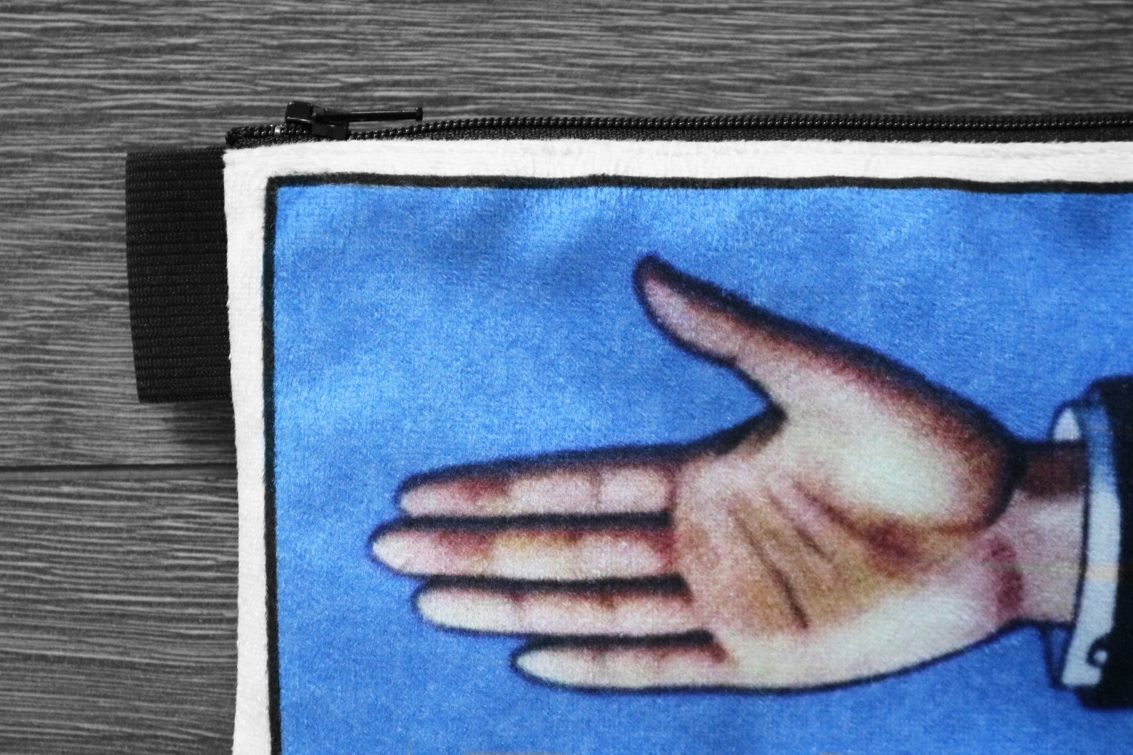 la mano - lined velveteen pencil case - loteria card game series