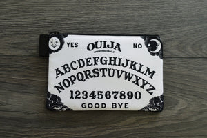 ouija board - lined twill pencil case - double sided print - white and black edition