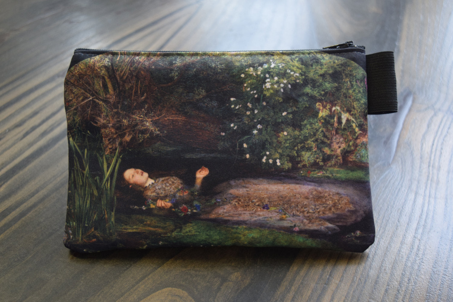 ophelia - lined twill pencil case - john everett millais, 1852
