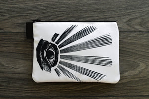 all seeing eye // masonic eye // omnipresent deity - lined twill pencil case - double sided print