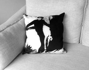 "the cabinet of dr. caligari - set of one 14"" by 20"" and one 18"" velveteen pillow case -  german expressionism (1920)"