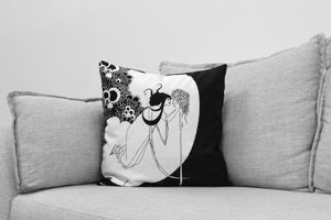 "aubrey beardsley - set of 18"" velveteen pillow cases - the dancers reward & the climax - for Salomé: a tragedy in one act // oscar wilde"