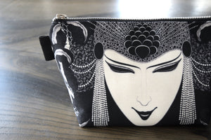 aubrey beardsley illustration - lined canvas zippered pouch - oscar wilde // the splendide coiffe