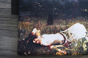 ophelia - lined twill pencil case - john william waterhouse, 1889