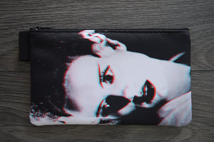 frankenstein's bride - lined twill pencil case - double sided print - universal monsters - 3D effect