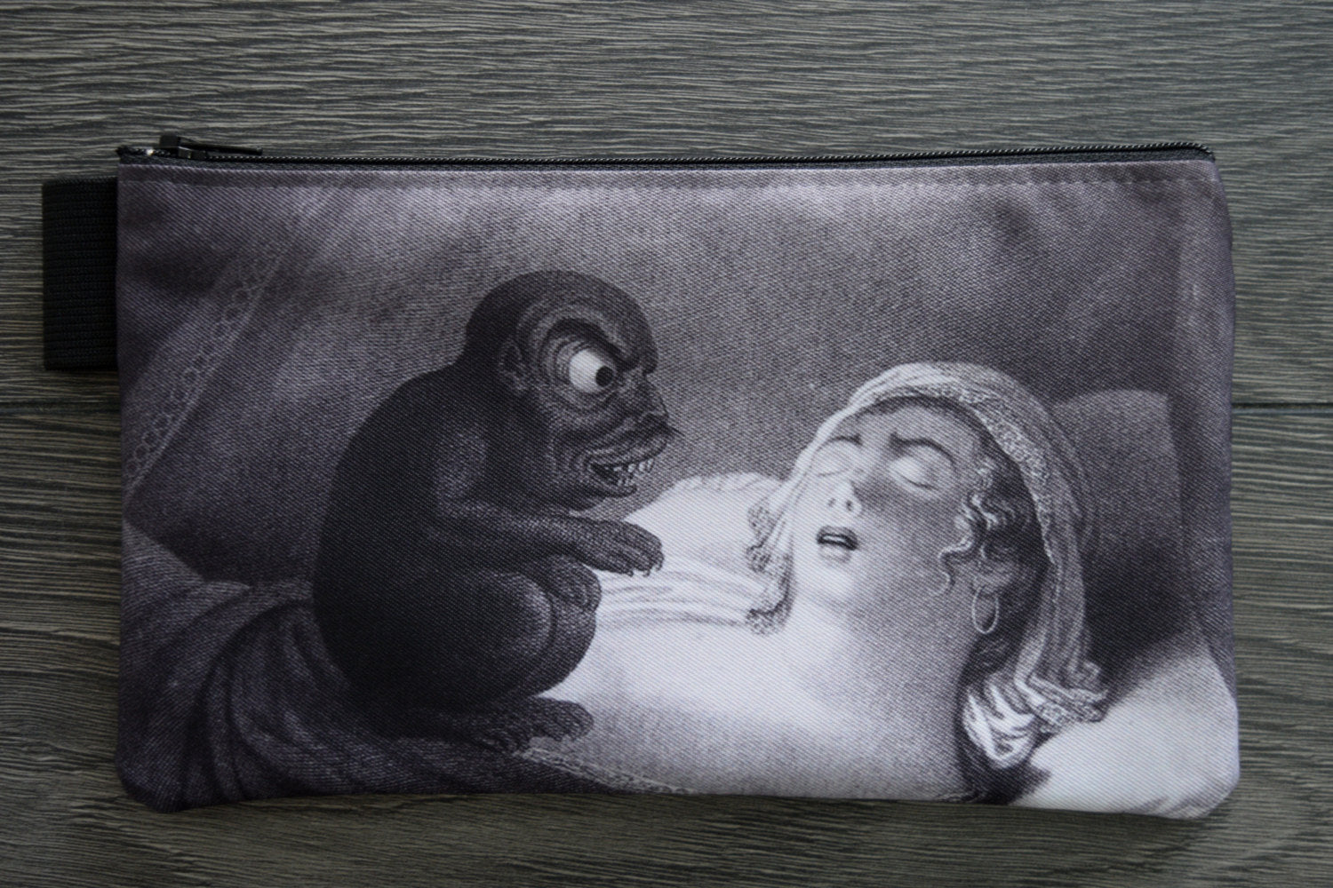 nightmare//cochemare - lined twill pencil case - double sided print - jean pierre simon, 1810