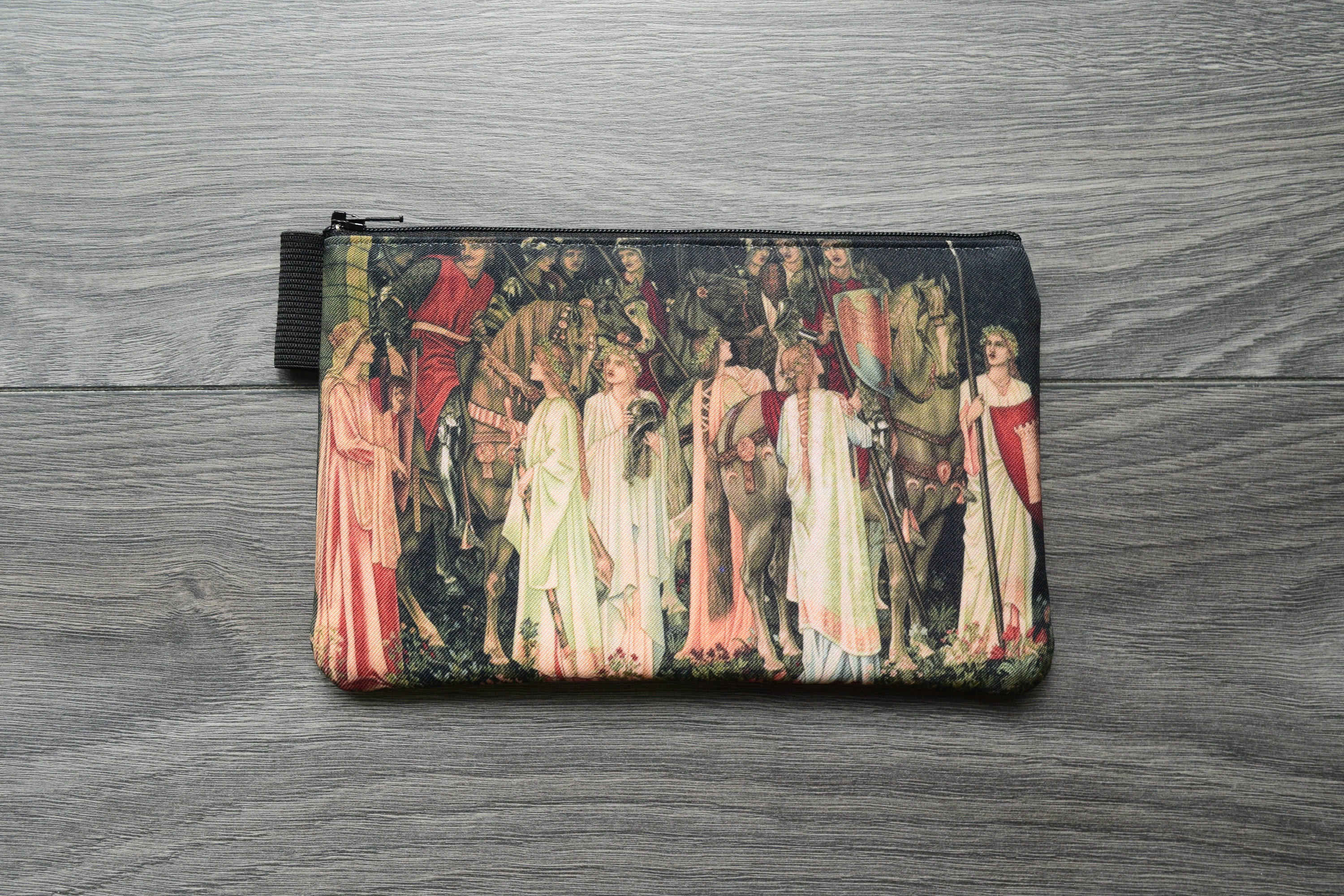 the arming and departure of the knights  - romanticism - lined twill pencil case - edward burne-jones, 1891 - 1894