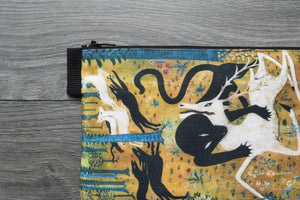 leopard and deer - lined twill pencil case -robert winthrop chanler, 1912