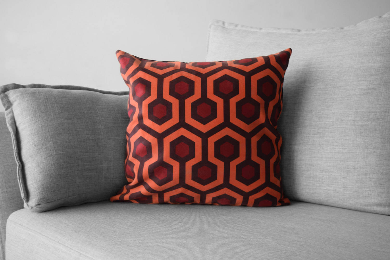 "the shining - 18"" velveteen pillow case - overlook hotel // carpet pattern"