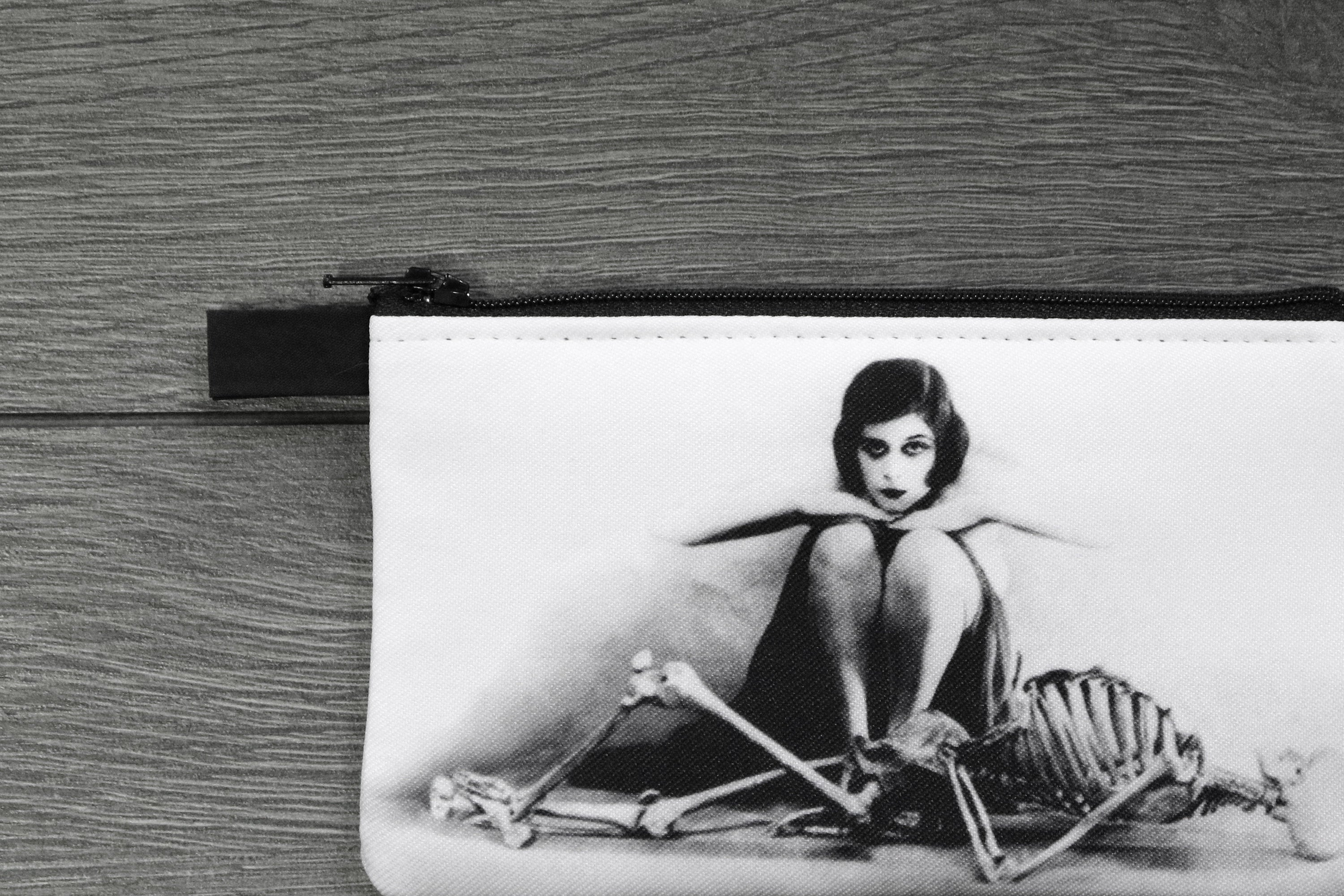 theda bara - lined twill coin purse - double sided print - the vamp