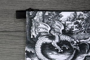 ouroboros - lined twill coin purse - double sided print - lucas jennis, 1625