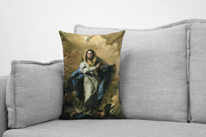 "the immaculate conception  - 14"" x 20"" velveteen pillow case - giovanni battista tiepolo, 1767-69"