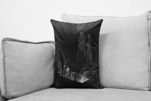 "the divine comedy illustration // dante's inferno  - 14"" x 20"" velveteen pillow case - Gustave Doré, 1892"