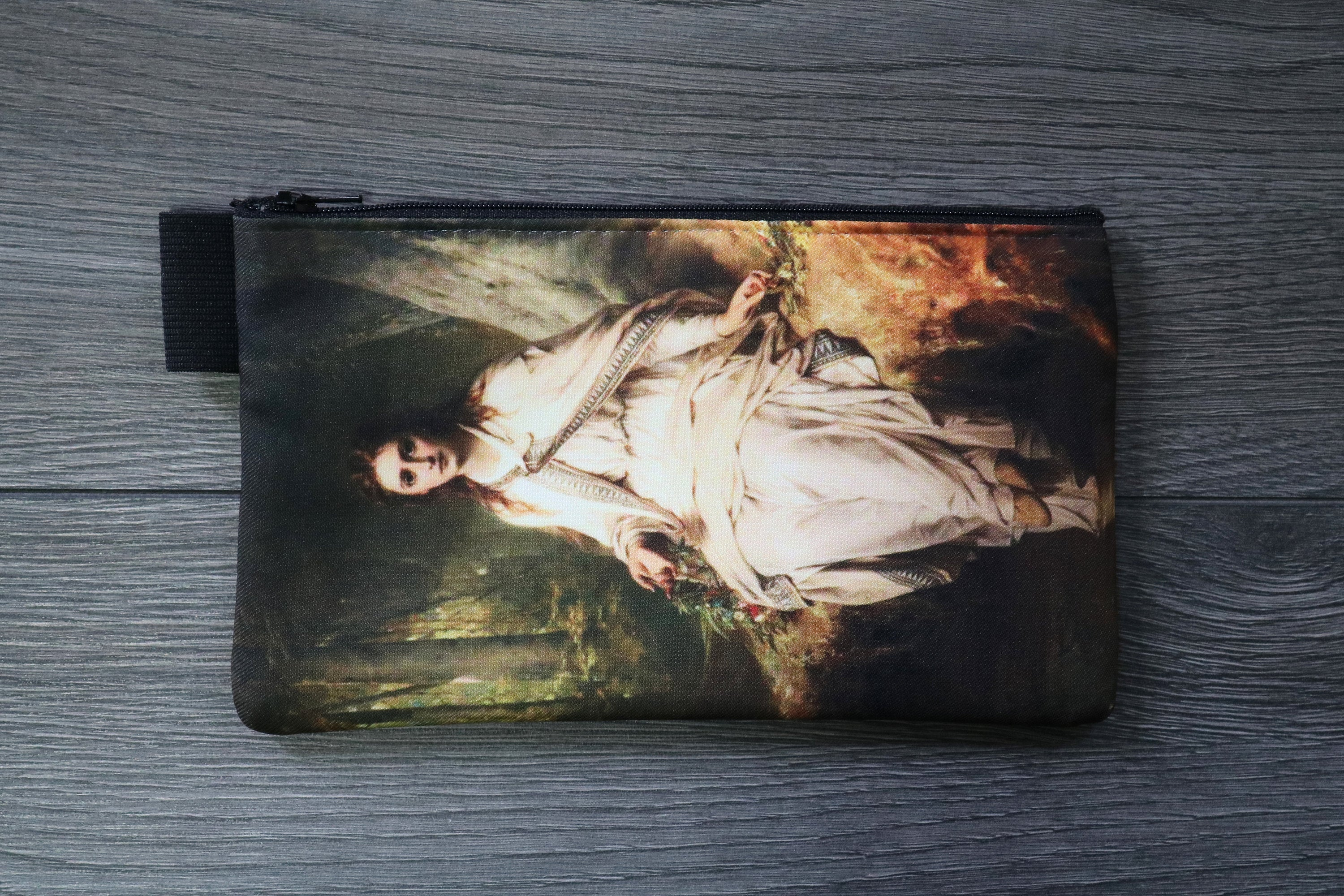 ophelia - lined twill pencil case - thomas francis dicksee, 1873