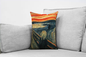 "edvard munch  - 14"" x 20"" velveteen pillow case - the scream, 1893"