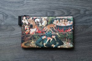 last judgement, hell - lined twill pencil case - double sided print - blessed fra angelico, 1431