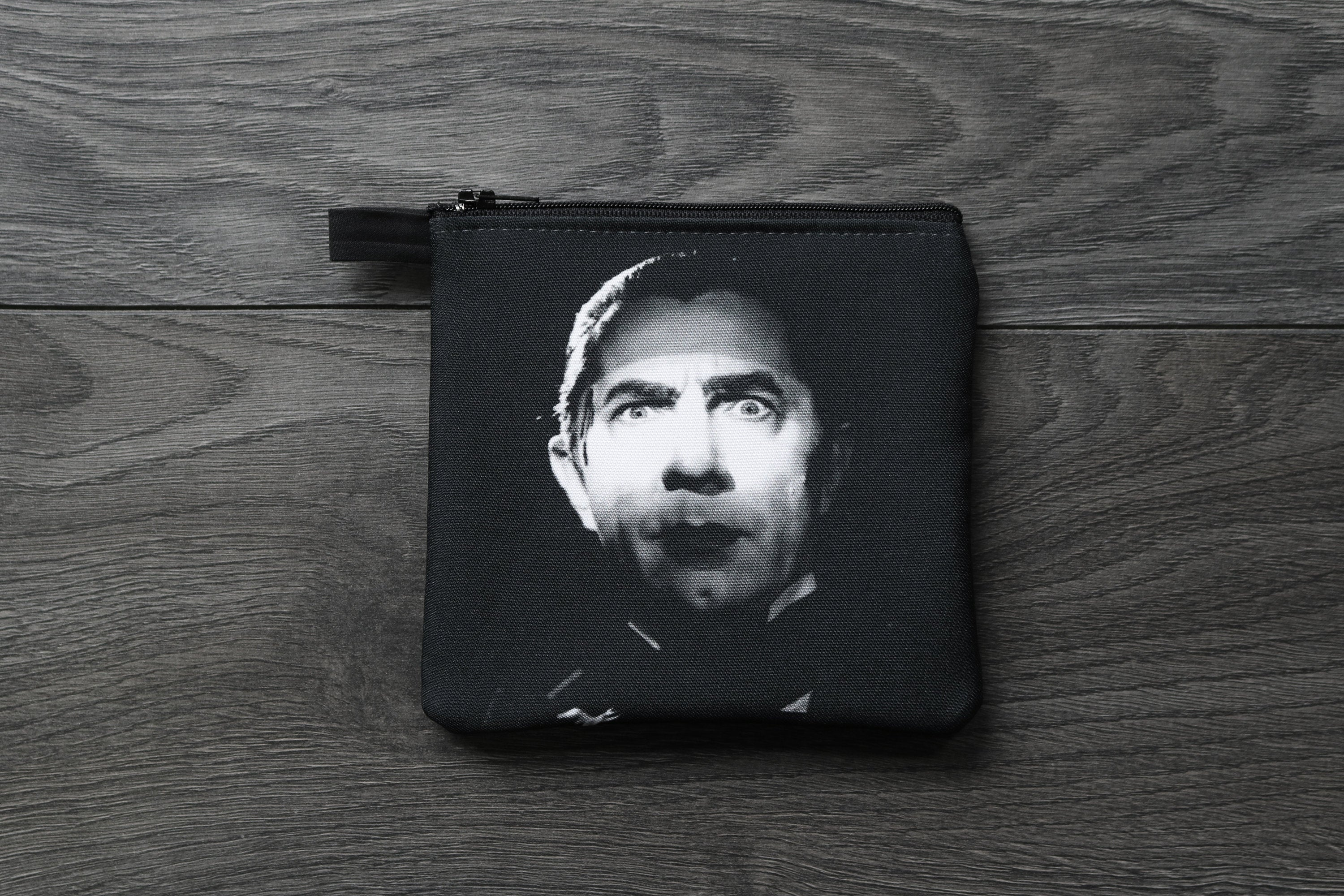 dracula - lined twill coin purse - double sided print - universal monsters - bela lugosi