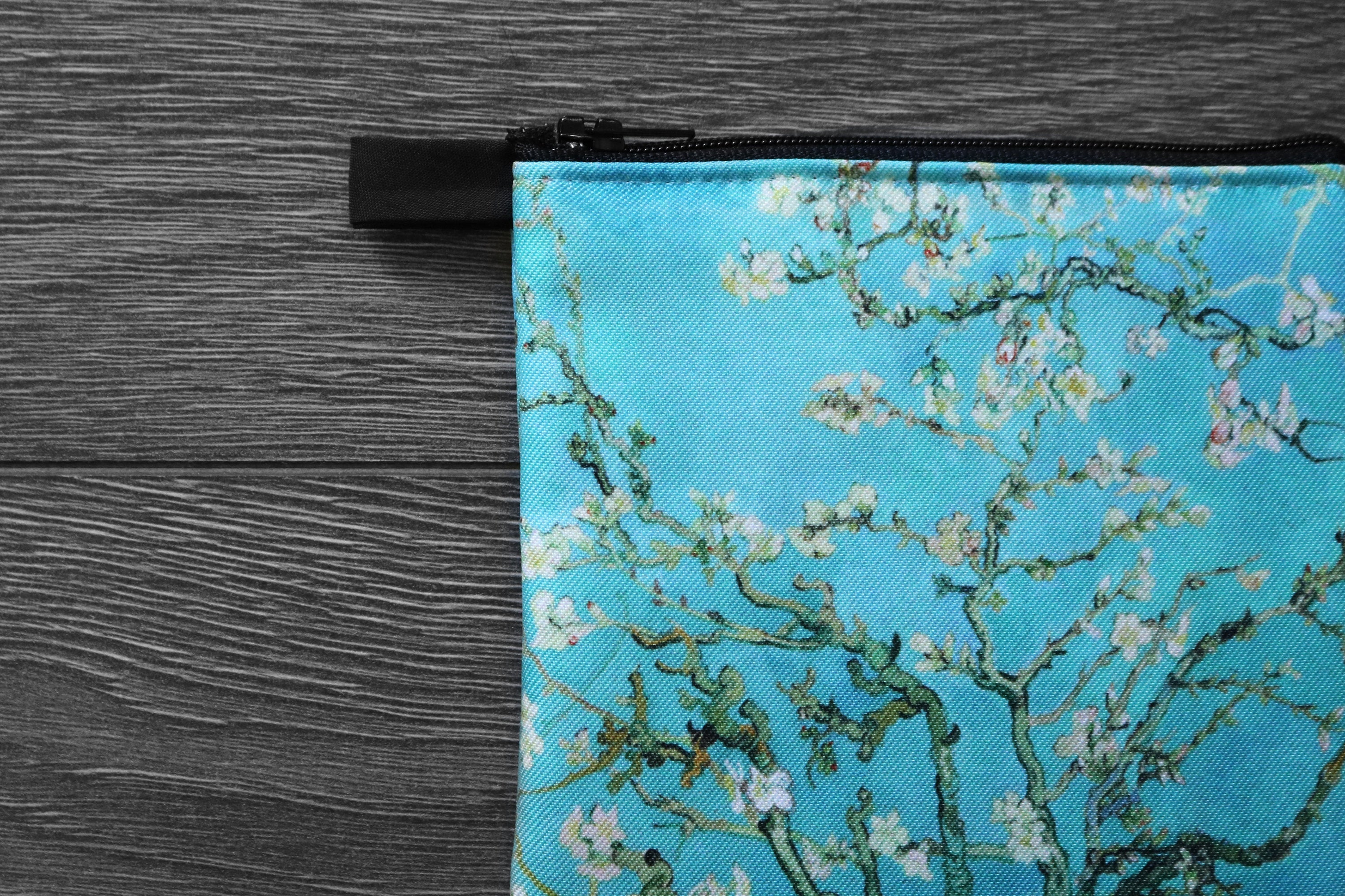 almond blossom - lined twill coin purse - double sided print -vincent van gogh painting, 1890