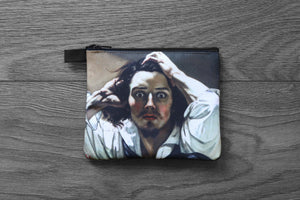 the desperate man - lined twill coin purse - double sided print - gustave courbet, 1843-1845