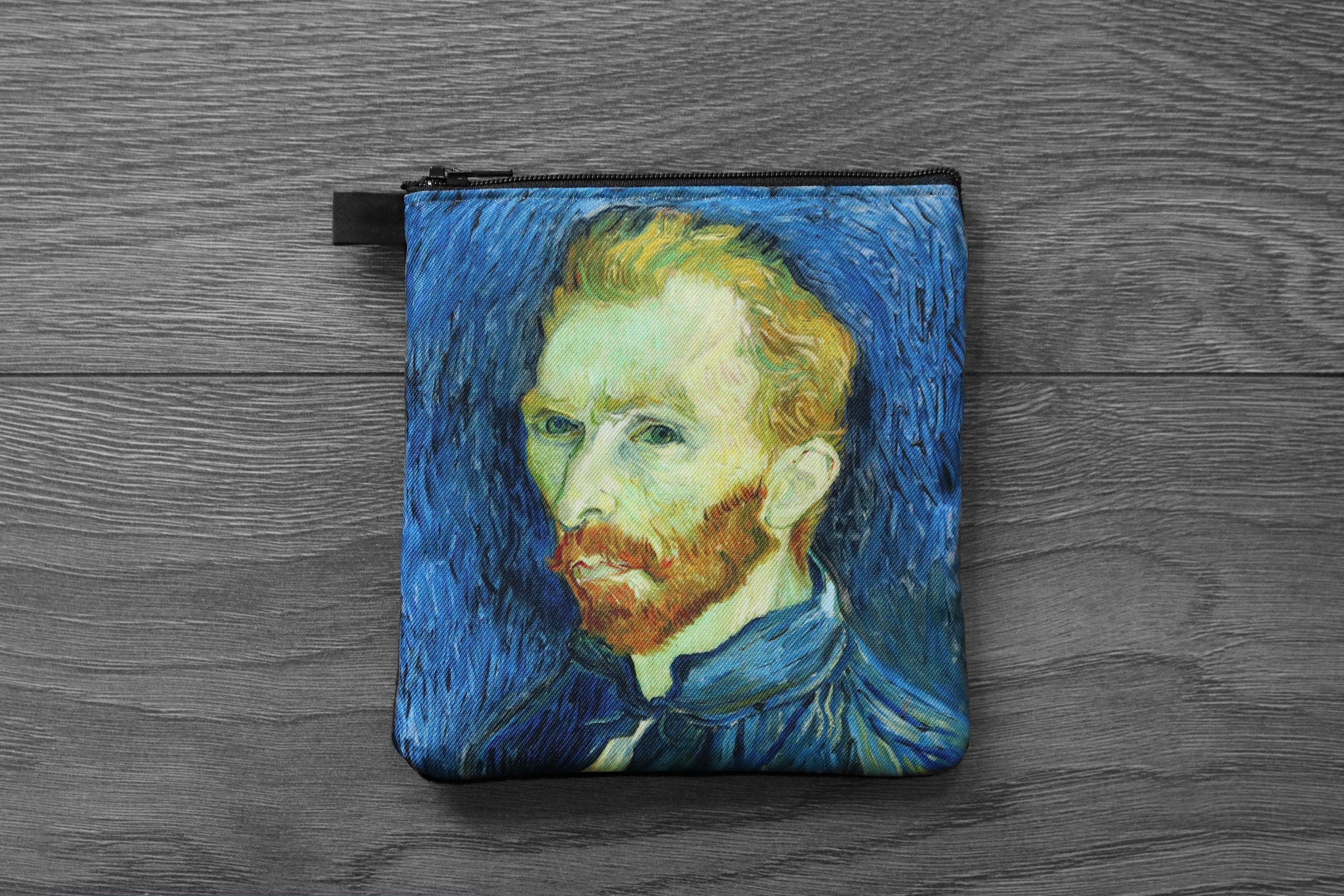self portrait - lined twill coin purse - double sided print -vincent van gogh painting, 1889