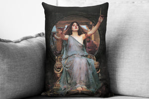 "circe offering the cup to ulysses  - 14"" x 20"" velveteen pillow case - john william waterhouse, 1891"