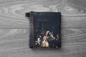 las meninas // the ladies-in-waiting - lined twill coin purse - double sided print - diego velázquezr, 1656