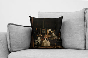 "las meninas // the ladies-in-waiting - 18"" velveteen pillow case - diego velázquezr, 1656"