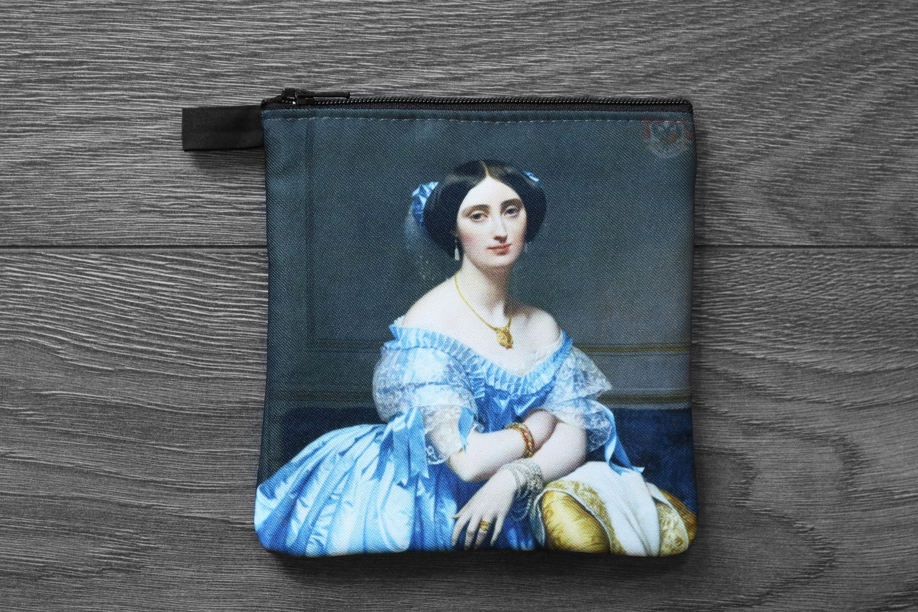 portrait of the princesse debroglie  - lined twill coin purse - double sided print - jean-auguste-dominique ingres, 1851-1853