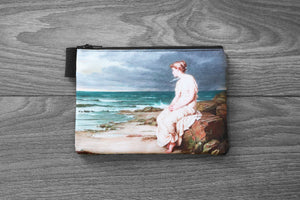 the tempest - miranda  - lined twill pencil case - john william waterhouse, 1875