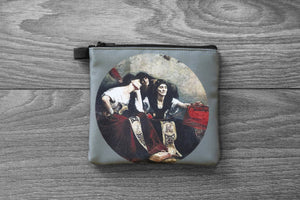 parcae // moirai // the fates - lined twill coin purse - double sided print -  alfred agache, 1885