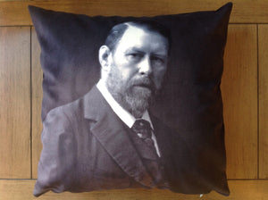 "bram stoker - 18"" velveteen pillow case - photograph, 1906"