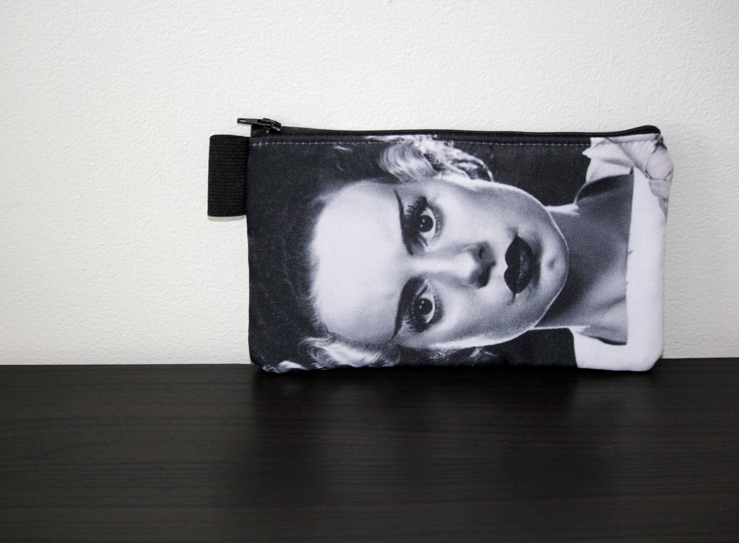frankenstein's creature and bride - lined twill pencil cases - universal monsters