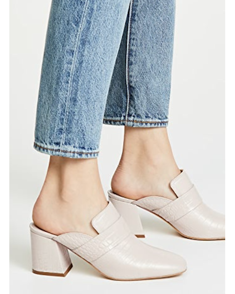 Fire Block Heel Mules