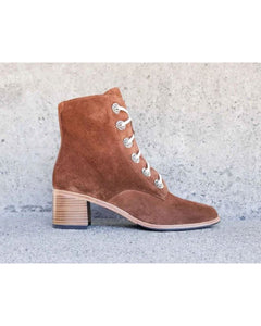 Ace Lace Up Combat Boot Brown Suede