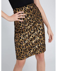 Ramos Sequin Leopard Skirt