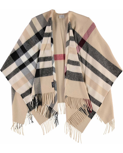 Plaid Ruana Wrap