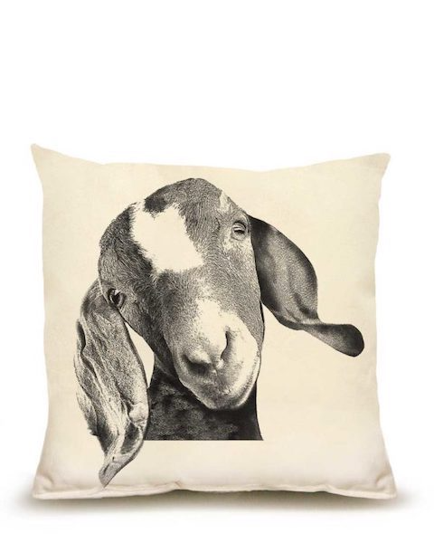 Goat Head Medium Pillow