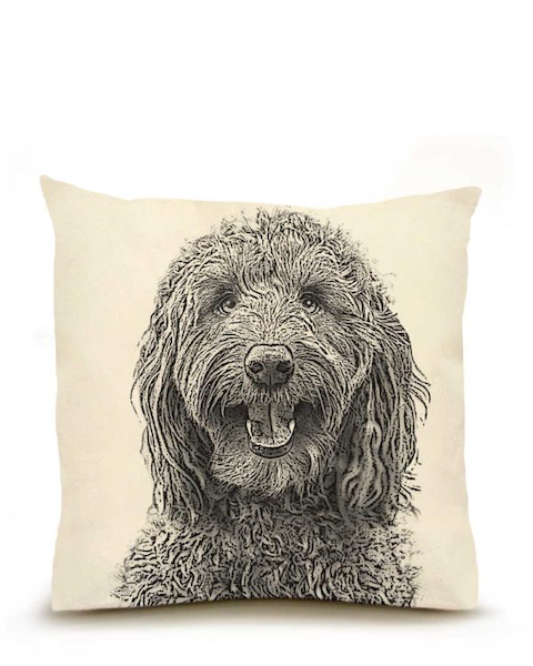 Labradoodle Large Pillow