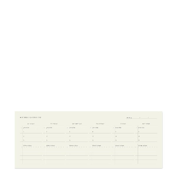 Weekly Keyboard Planner Deskpad