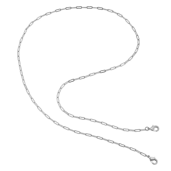 Soleil Small Paperclip Chain Mask Necklace - 32""