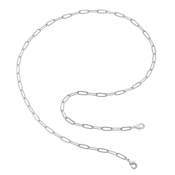 Soleil Large Paperclip Chain Mask Necklace  - 32""