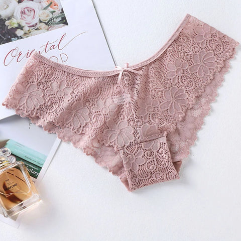 3 Pcs Sexy Lace Breathable Panties For Woman